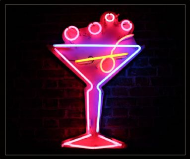 Coctail Glass Neon Sign